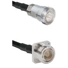 7/16 Din Female on RG142 to 7/16 4 Hole Female Cable Assembly