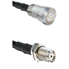 7/16 Din Female on RG142 to Mini-UHF Female Cable Assembly