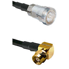 7/16 Din Female on RG142 to SMC Right Angle Female Cable Assembly