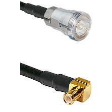 7/16 Din Female on RG400 to MCX Right Angle Male Cable Assembly