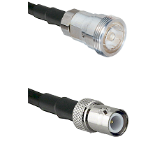 7/16 Din Female on RG400 to BNC Reverse Polarity Female Cable Assembly