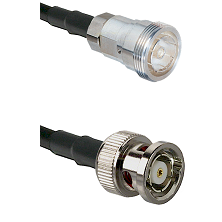 7/16 Din Female on RG400 to BNC Reverse Polarity Male Cable Assembly