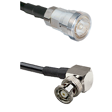 7/16 Din Female on RG400 to BNC Reverse Polarity Right Angle Male Cable Assembly