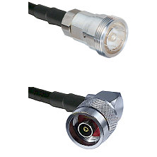 7/16 Din Female on RG400 to N Reverse Polarity Right Angle Male Cable Assembly
