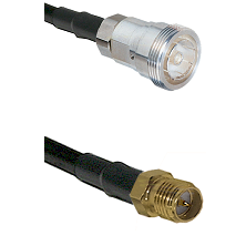 7/16 Din Female on RG400 to SMA Reverse Polarity Female Cable Assembly