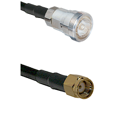 7/16 Din Female on RG400 to SMA Reverse Polarity Male Cable Assembly