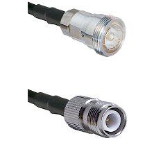 7/16 Din Female on RG400 to TNC Reverse Polarity Female Cable Assembly