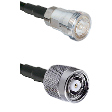 7/16 Din Female on RG400 to TNC Reverse Polarity Male Cable Assembly