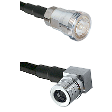 7/16 Din Female on RG400 to QMA Right Angle Male Cable Assembly