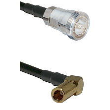 7/16 Din Female on RG400 to SLB Right Angle Female Cable Assembly