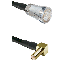 7/16 Din Female on RG400 to SLB Right Angle Male Cable Assembly