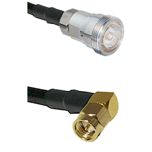 7/16 Din Female on RG400 to SMA Right Angle Male Cable Assembly