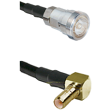 7/16 Din Female on RG400 to SSMB Right Angle Male Cable Assembly