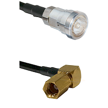 7/16 Din Female on RG400 to SSMC Right Angle Female Cable Assembly