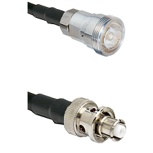 7/16 Din Female on RG400 to SHV Plug Cable Assembly