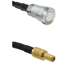 7/16 Din Female on RG400 to SLB Male Cable Assembly