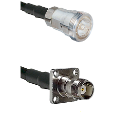 7/16 Din Female on RG400 to TNC 4 Hole Female Cable Assembly
