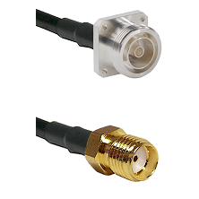 7/16 4 Hole Female on Belden 83242 RG142 to SMA Reverse Thread Female Cable Assembly