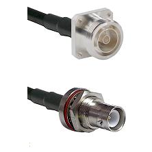 7/16 4 Hole Female on LMR-195-UF UltraFlex to SHV Bulkhead Jack Cable Assembly