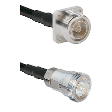 7/16 4 Hole Female Connector On LMR-240UF UltraFlex To 7/16 Din Female Connector Coaxial Cable Assem