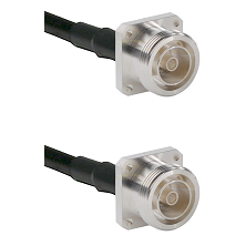 7/16 4 Hole Female Connector On LMR-240UF UltraFlex To 7/16 4 Hole Female Connector Coaxial Cable As