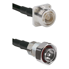7/16 4 Hole Female Connector On LMR-240UF UltraFlex To 7/16 Din Male Connector Coaxial Cable Assembl