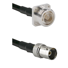 7/16 4 Hole Female Connector On LMR-240UF UltraFlex To BNC Female Connector Cable Assembly