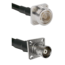 7/16 4 Hole Female Connector On LMR-240UF UltraFlex To C 4 Hole Female Connector Coaxial Cable Assem