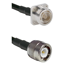 7/16 4 Hole Female Connector On LMR-240UF UltraFlex To C Male Connector Cable Assembly