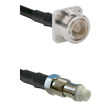 7/16 4 Hole Female Connector On LMR-240UF UltraFlex To FME Female Connector Cable Assembly