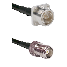 7/16 4 Hole Female Connector On LMR-240UF UltraFlex To HN Female Connector Cable Assembly