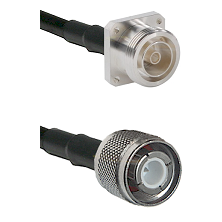 7/16 4 Hole Female Connector On LMR-240UF UltraFlex To HN Male Connector Cable Assembly