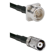 7/16 4 Hole Female Connector On LMR-240UF UltraFlex To MHV Female Connector Cable Assembly