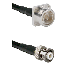 7/16 4 Hole Female Connector On LMR-240UF UltraFlex To MHV Male Connector Cable Assembly