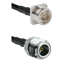 7/16 4 Hole Female Connector On LMR-240UF UltraFlex To N Female Connector Cable Assembly