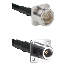 7/16 4 Hole Female Connector On LMR-240UF UltraFlex To N 4 Hole Female Connector Coaxial Cable Assem