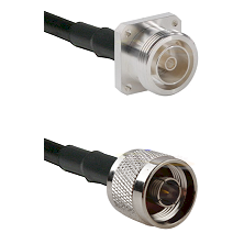 7/16 4 Hole Female Connector On LMR-240UF UltraFlex To N Male Connector Cable Assembly