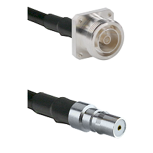 7/16 4 Hole Female Connector On LMR-240UF UltraFlex To QMA Female Connector Cable Assembly