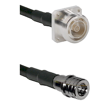 7/16 4 Hole Female Connector On LMR-240UF UltraFlex To QMA Male Connector Cable Assembly