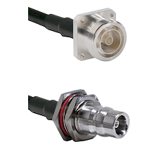 7/16 4 Hole Female Connector On LMR-240UF UltraFlex To QN Female Bulkhead Connector Coaxial Cable As
