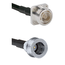 7/16 4 Hole Female Connector On LMR-240UF UltraFlex To QN Male Connector Cable Assembly