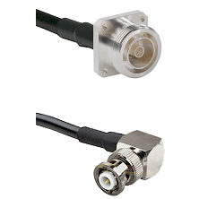 7/16 4 Hole Female Connector On LMR-240UF UltraFlex To MHV Right Angle Male Connector Coaxial Cable
