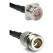 7/16 4 Hole Female Connector On LMR-240UF UltraFlex To N Reverse Polarity Female Connector Coaxial C