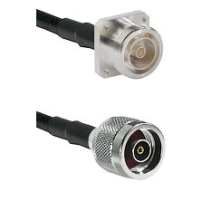7/16 4 Hole Female Connector On LMR-240UF UltraFlex To N Reverse Polarity Male Connector Coaxial Cab