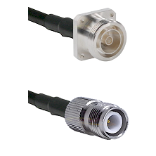 7/16 4 Hole Female Connector On LMR-240UF UltraFlex To TNC Reverse Polarity Female Connector Coaxial
