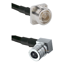 7/16 4 Hole Female Connector On LMR-240UF UltraFlex To QMA Right Angle Male Connector Coaxial Cable