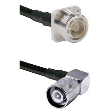 7/16 4 Hole Female Connector On LMR-240UF UltraFlex To SC Right Angle Male Connector Coaxial Cable A