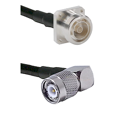 7/16 4 Hole Female Connector On LMR-240UF UltraFlex To TNC Right Angle Male Connector Coaxial Cable