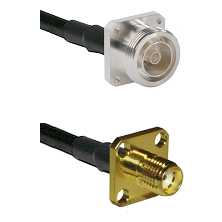 7/16 4 Hole Female Connector On LMR-240UF UltraFlex To SMA 4 Hole Female Connector Coaxial Cable Ass