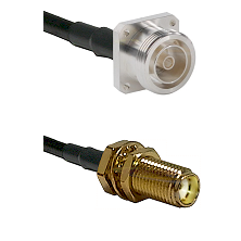7/16 4 Hole Female Connector On LMR-240UF UltraFlex To SMA Female Bulkhead Connector Coaxial Cable A